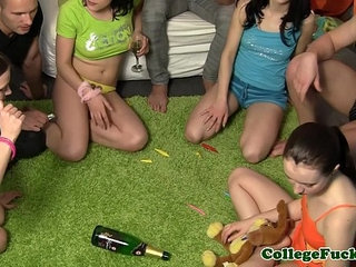College sexgamers spinning the bottle   bottlecollege