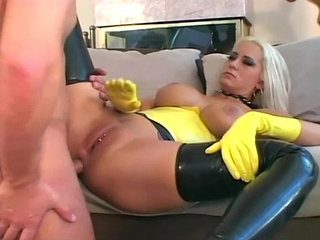 Fucking in latex gloves stilettoes and stockings | latexstockings