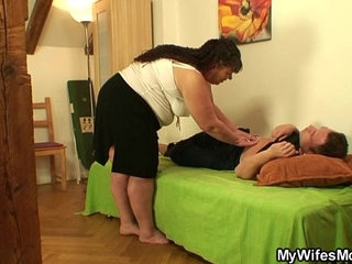 She leaves and plump mother in law fucks him   motherplump