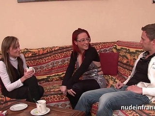FFM Pretty amateur french milf hard anal penetration for her casting couch | analcastingcouchffmfrenchpenetration
