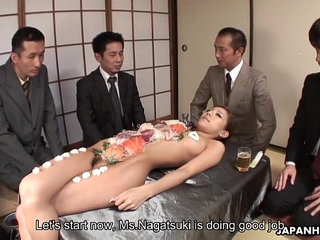 Business lunch is all over her naked body | naked