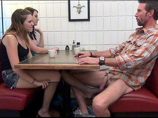 Daughter gives Footjob and BJ to Dad Under the Table | daddydaughterfootjobtable