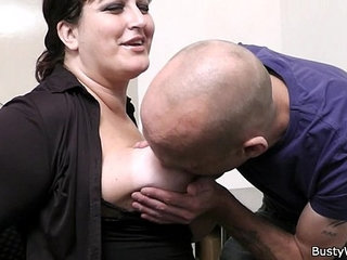 Office sex with her boss and busty secretary | bossbustyofficesecretary
