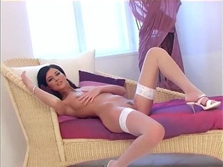 Pretty babe teases in panties and fishnet stockings | fishnetspantiesprettystockings