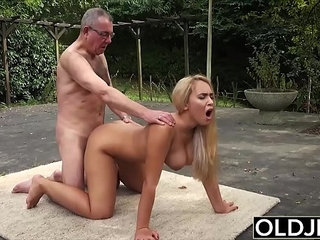 Old and Young Porn BustyTeen Gets Wet and Sucks Grandpa | grandpaold and youngwet