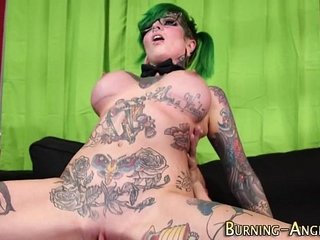 Goth whore gets railed | whores