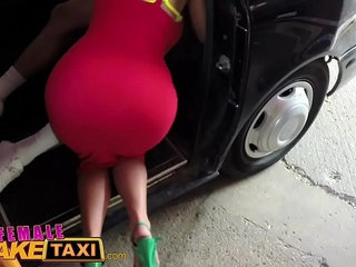 Female Fake Taxi Stud gives busty blonde milf a creampie on taxi bonnet | blondebustycreampiefemaletaxi