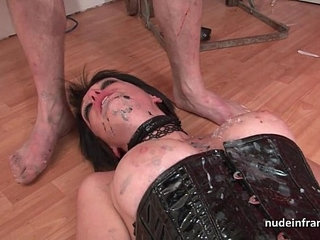 Big boobed french babe hard corrected in BDSM action | actionbdsmfrench